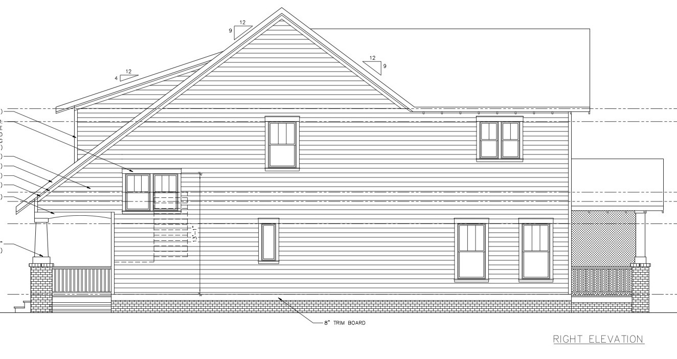 Commonwealth Park Bungalow Plans_right elev