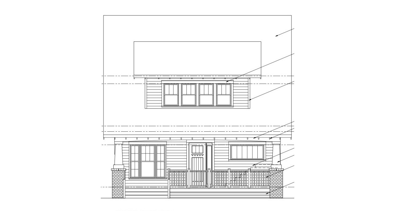 Commonwealth Park Bungalow front elev